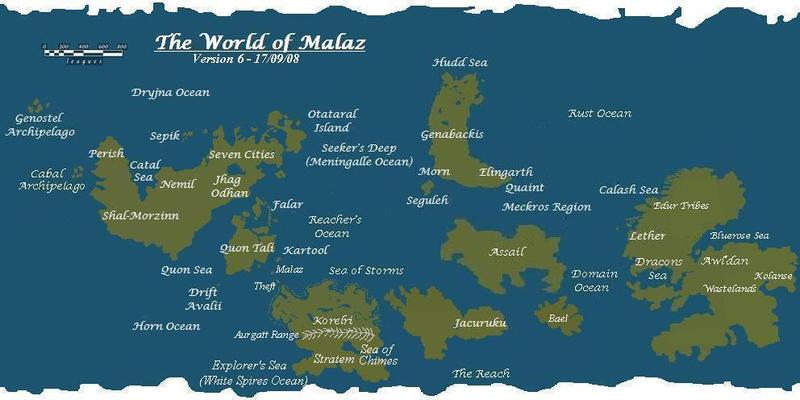 Encyclopediamalazica world map world map wertheads mostly accurate map of the malazan world publicscrutiny Gallery